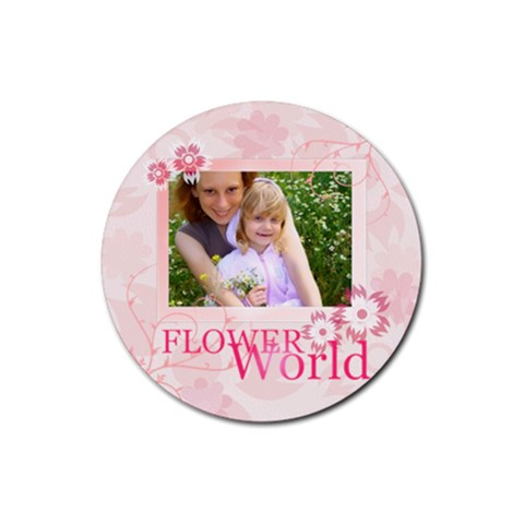 Flower By Joely   Rubber Coaster (round)   9k07whffh9ix   Www Artscow Com Front