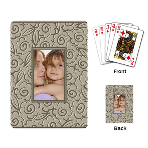 Pattern Frame By Wood Johnson   Playing Cards Single Design   N8yajysd4s0l   Www Artscow Com Back