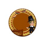 Thanksgivin coaster2 - Rubber Coaster (Round)