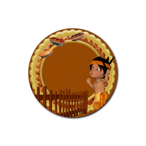 Thanksgivin Coaster3 By Snackpackgu   Rubber Coaster (round)   1cf5z7mzbudi   Www Artscow Com Front