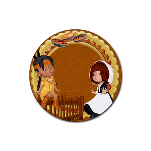 Thanksgivin Coaster4 By Snackpackgu   Rubber Coaster (round)   Z1kz3qftsw1t   Www Artscow Com Front