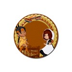 Thanksgivin coaster4 - Rubber Coaster (Round)