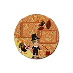 Thanksgiving 9 - Rubber Coaster (Round)
