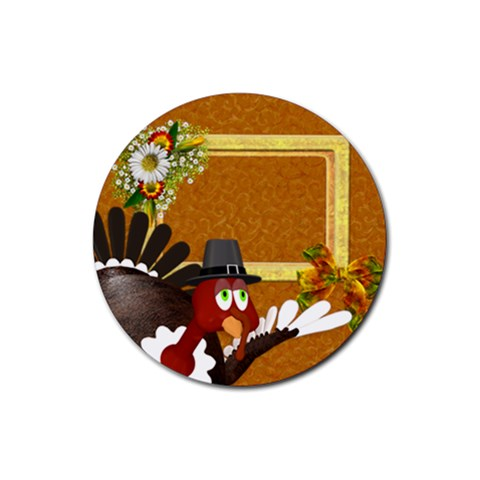 Thanksgiving 10 By Snackpackgu   Rubber Coaster (round)   3cygel3p9y6f   Www Artscow Com Front