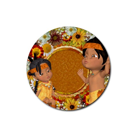 Thanksgiving 11 By Snackpackgu   Rubber Coaster (round)   Nvz250r5iw9h   Www Artscow Com Front