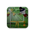 Football Coaster 2 - Rubber Square Coaster (4 pack)