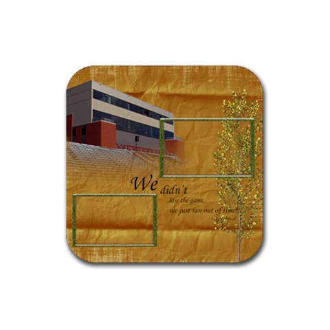Football Coaster 3 By Snackpackgu   Rubber Square Coaster (4 Pack)   Aa0goeemai0a   Www Artscow Com Front