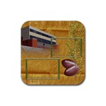 Football Coaster 3 - Rubber Square Coaster (4 pack)