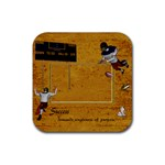 Football Coaster 4 - Rubber Square Coaster (4 pack)