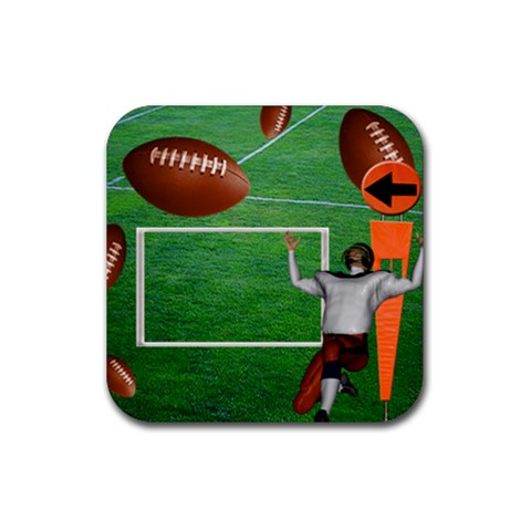 Football Coaster7 By Snackpackgu   Rubber Square Coaster (4 Pack)   Heln8fv1dkgq   Www Artscow Com Front