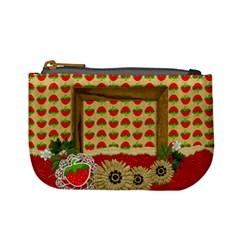 Mini Coin Purse Strawberries By Mikki   Mini Coin Purse   0bhh8nwgyrfs   Www Artscow Com Front