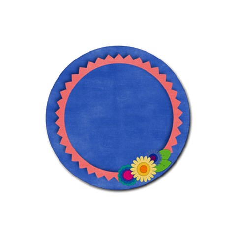 Coaster Flowers By Mikki   Rubber Coaster (round)   Uow4ylc9vk2n   Www Artscow Com Front