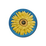 Coaster-Gingham & Daisy - Rubber Coaster (Round)