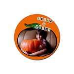 Pumpkin - Rubber square coaster - Rubber Coaster (Round)