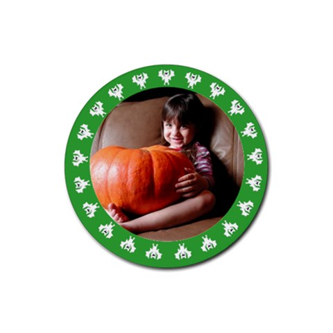 Halloween Green   Rubber Square Coaster By Carmensita   Rubber Coaster (round)   7kismmilnsi7   Www Artscow Com Front