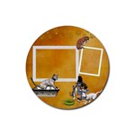 kitties 1 - Rubber Coaster (Round)
