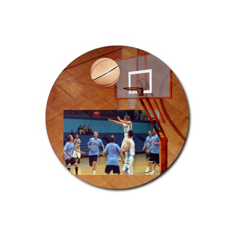 Basketball 1 By Snackpackgu   Rubber Coaster (round)   Omzk30uo3bmk   Www Artscow Com Front
