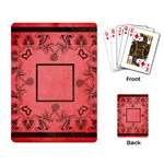 art nouveau red playing cards - Playing Cards Single Design