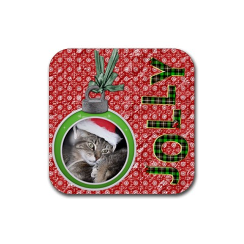 Jolly Christmas Coaster By Lil    Rubber Coaster (square)   Suclp3jxgke5   Www Artscow Com Front