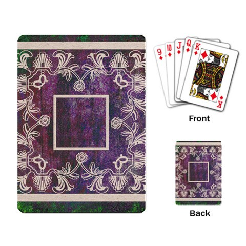 Art Nouveau Purple Lace Playing Cards By Catvinnat   Playing Cards Single Design   K0fh73ojrfaj   Www Artscow Com Back