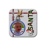 Santa Christmas Coaster - Rubber Coaster (Square)