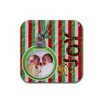 Joy Christmas Coaster - Rubber Coaster (Square)