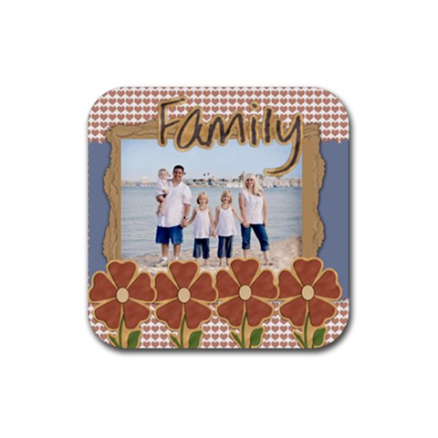 Family Coaster Template By Danielle Christiansen   Rubber Coaster (square)   70w7aoqo7opf   Www Artscow Com Front
