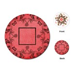 art nouveau red round playing cards - Playing Cards (Round)