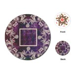art nouveau purple lace round playing cards - Playing Cards (Round)