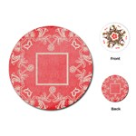 art nouveau red lace round playing cards - Playing Cards (Round)