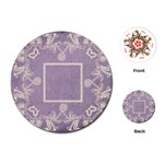 art nouveau lavendar lace round playing cards - Playing Cards (Round)