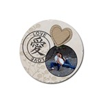 Love Coaster - Rubber Coaster (Round)