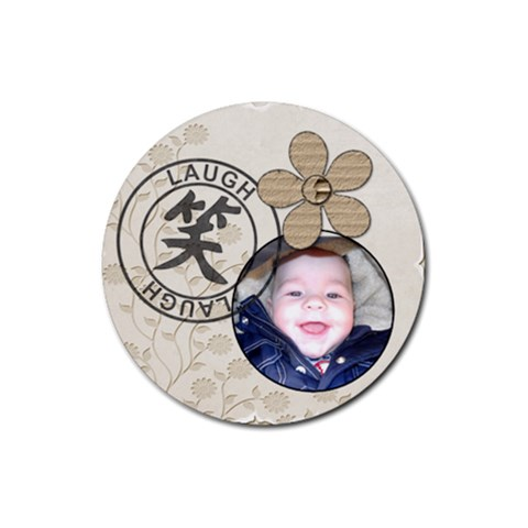 Laugh Coaster By Lil    Rubber Coaster (round)   L36oxwprm5bq   Www Artscow Com Front