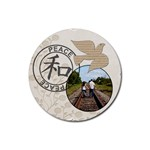 Peace Coaster - Rubber Coaster (Round)