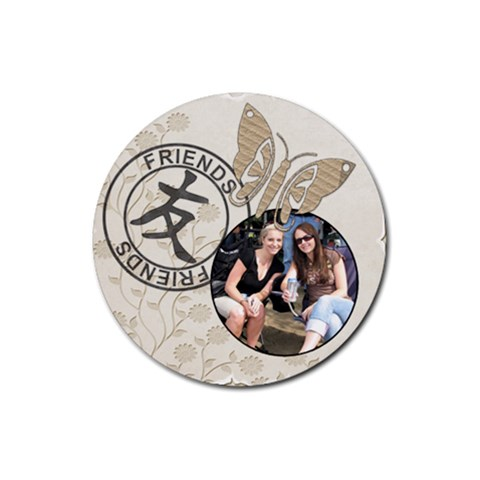 Friends Coaster By Lil    Rubber Coaster (round)   5j6r5xf4o1be   Www Artscow Com Front