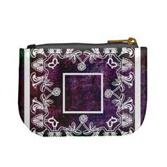 Art Nouveau Deep Purple Lace Mini Coin Purse By Catvinnat   Mini Coin Purse   Hj0jkga6oyuc   Www Artscow Com Back