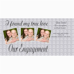 Engagement Announcement By Danielle Christiansen   4  X 8  Photo Cards   209h6lso5kmc   Www Artscow Com 8 x4 Photo Card - 8