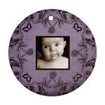 art nouveau lavendar round ornament - Round Ornament (Two Sides)