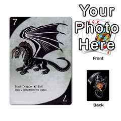 Queen Three Dragon Ante (1 Of 2) By Gaines Kergosien   Playing Cards 54 Designs   Eis98tir5nmf   Www Artscow Com Front - SpadeQ