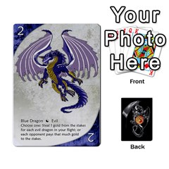 Three Dragon Ante (1 Of 2) By Gaines Kergosien   Playing Cards 54 Designs   Eis98tir5nmf   Www Artscow Com Front - Heart8