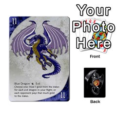 Queen Three Dragon Ante (1 Of 2) By Gaines Kergosien   Playing Cards 54 Designs   Eis98tir5nmf   Www Artscow Com Front - HeartQ