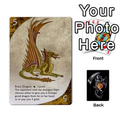 Three Dragon Ante (1 Of 2) By Gaines Kergosien   Playing Cards 54 Designs   Eis98tir5nmf   Www Artscow Com Front - Diamond3