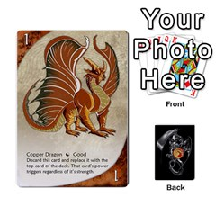 Queen Three Dragon Ante (1 Of 2) By Gaines Kergosien   Playing Cards 54 Designs   Eis98tir5nmf   Www Artscow Com Front - DiamondQ