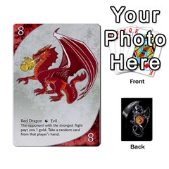 Three Dragon Ante (1 Of 2) By Gaines Kergosien   Playing Cards 54 Designs   Eis98tir5nmf   Www Artscow Com Front - Club8