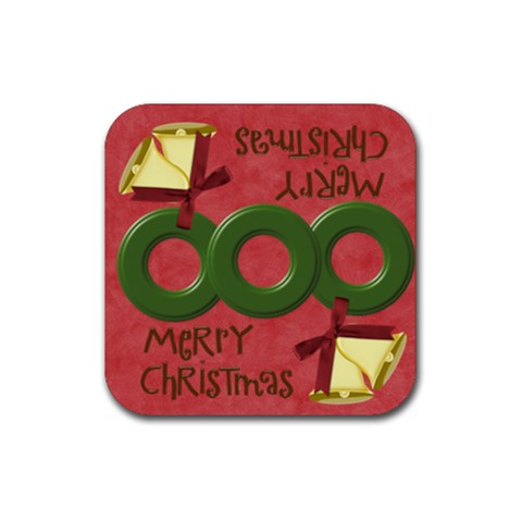 Christmas  By Melinda Bow   Rubber Coaster (square)   R766v1kydv6h   Www Artscow Com Front
