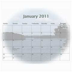Dream Lake Keowee 2011 By Diane Allen   Wall Calendar 11  X 8 5  (12 Months)   Tntbbctdp0vi   Www Artscow Com Jan 2011