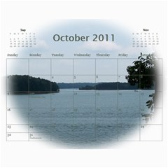 Dream Lake Keowee 2011 By Diane Allen   Wall Calendar 11  X 8 5  (12 Months)   Tntbbctdp0vi   Www Artscow Com Oct 2011