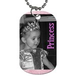 Princess tag - Dog Tag (One Side)