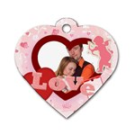 Love tag - Dog Tag Heart (One Side)