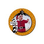 Orange Christmas- Rubber coaster - Rubber Coaster (Round)